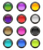 Сolourful buttons — Stock Vector