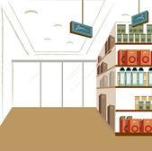 Shop interior — Stock Vector