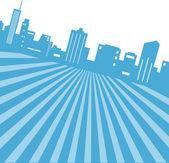 Pozadí panoramatu města — Stock vektor