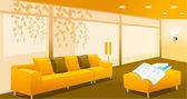 Living room interior — Stock Vector