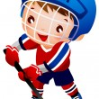 Boy ice hockey player - Stock Vector
