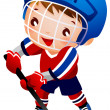 Royalty-Free Stock Vector Image: Boy ice hockey player