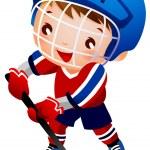 ������, ������: Boy ice hockey player