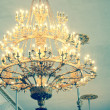 Chandelier with Candles — Stock Photo