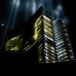 Skyscraper whit cool light effect — Stock Photo #10858721