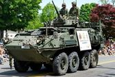 Army Vehicle in the Parade — Stock Photo