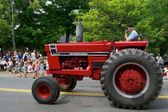 Antique Tractor in parade — Stock Photo