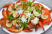 Spicy steamed crabs — Stock Photo
