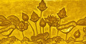 Golden lotus stucco — Stock Photo