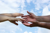 Extend a helping hand — Stock Photo