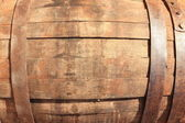 Wooden Barrel in the background — Stock Photo