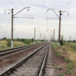 Stock Photo: Railway stretches into distance