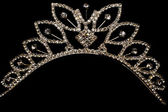 Princess Tiara isolated on black — Stock Photo