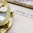 Stock Photo: A antique compass