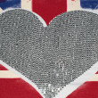 United Kingdom flag and heart — Stock Photo
