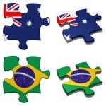 Australia & Brazil puzzle — Stock Photo #11006847