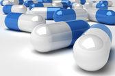 Blå piller — Stockfoto