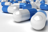 Blue pills — Stock Photo