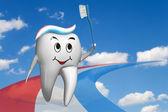 Olimpijski ząb — Zdjęcie stockowe