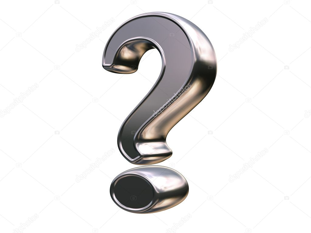 3d rendered question mark — Stock Photo #11006933