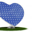 Solar panel heart - Stock Photo