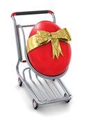 Easter egg gift — Stock Photo