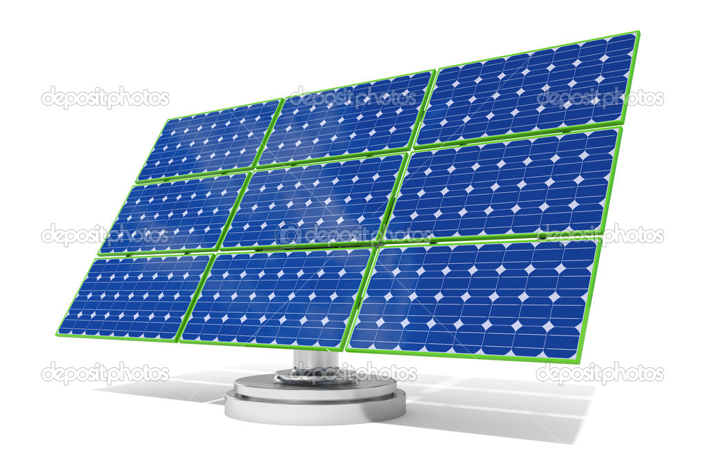 3d rendered blue solar panel  Stock Photo #11118509