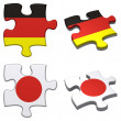 Germany & Jappuzzle — Stock Photo #11370426