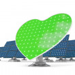 Royalty-Free Stock Photo: Solar panels green heart