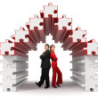 Business partners - 3d puzzle house — Stock Photo #11371306