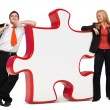 Business with puzzle - Copyspace — Stock Photo
