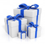cajas de regalo - azules — Foto de Stock