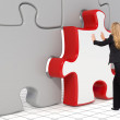 The last puzzle piece - Business concept - Stock Photo