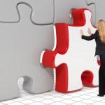 The last puzzle piece - Business concept — Stock Photo