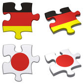 Germany & Japan puzzle — Stock Photo