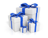 Gift boxes - Blue — Stock Photo
