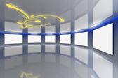 Modern virtual Gallery 7 — Stock Photo
