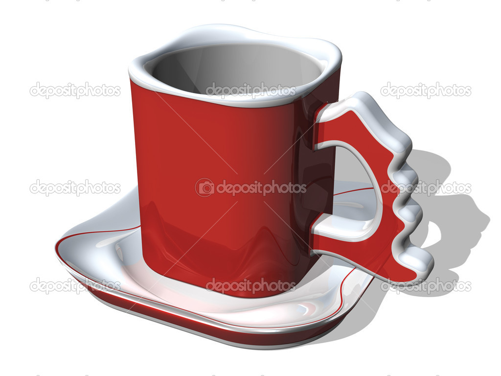 Red 3d rendered stylish cup — Stock Photo #11370457