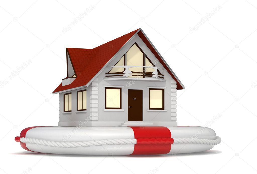 haus versicherung symbol stockfoto jocky 11371337. Black Bedroom Furniture Sets. Home Design Ideas