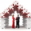 Business partners - 3d puzzle house - solution — Stock Photo