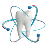 Protected tooth Fluoride — Stock Photo