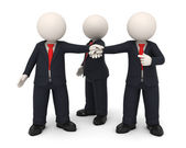 3d business hands together united as team — Stock Photo