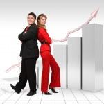 gráfico financiera de un negocio real - 3d — Foto de Stock