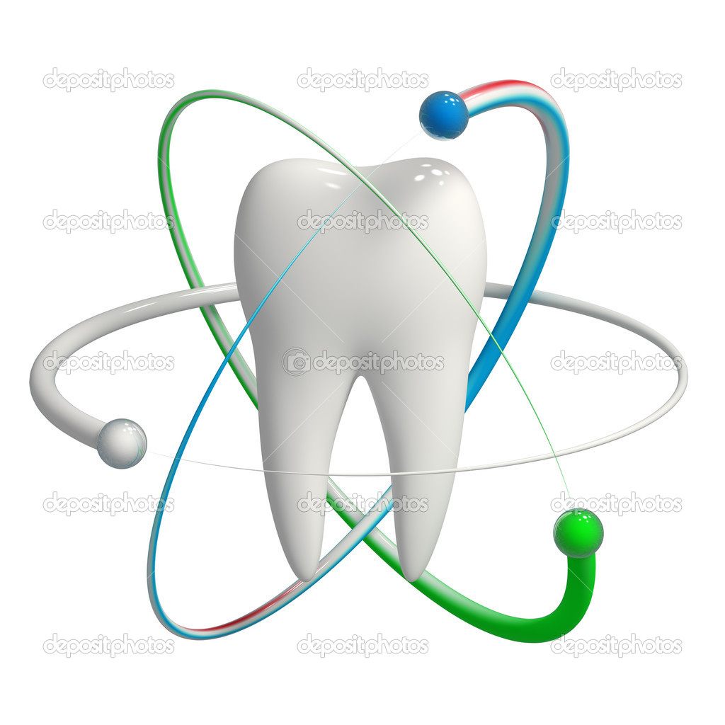 Herbal and fluoride protection icon of a tooth — Stock Photo #11483753