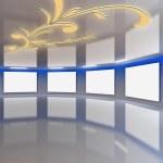 Modern virtual Gallery 14 — Stock Photo