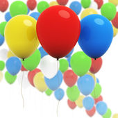 Colorful 3d balloons - Three in focus — Stock fotografie