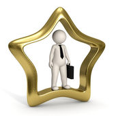 3d VIP business man - Icon — Stock Photo