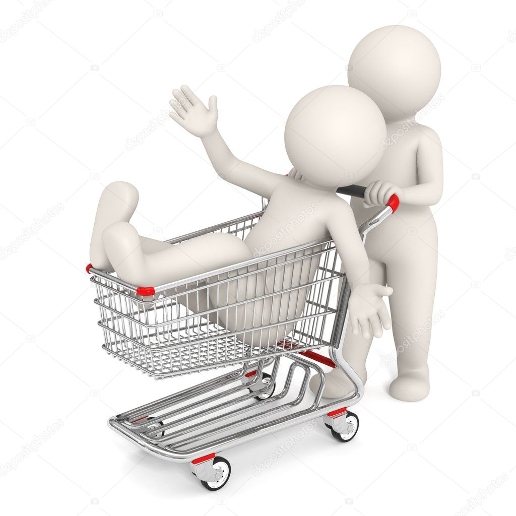 3d rendered with shopping cart isolated on white background — Stock Photo #11803541