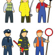 Stock Vector: Professions