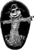 Halloween bogey — Stock Vector